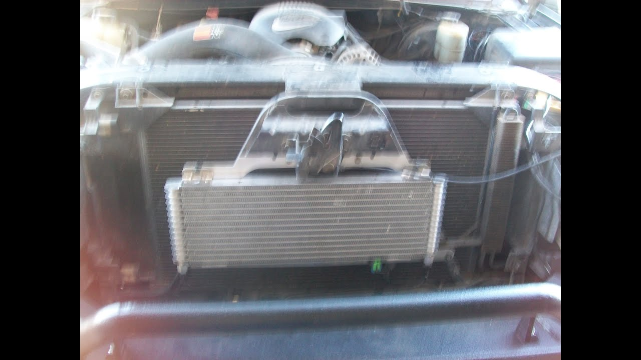 diagram of 1999 gmc savana engine aftermarket gm transmission cooler install 99 06 youtube  aftermarket gm transmission cooler install 99 06 youtube