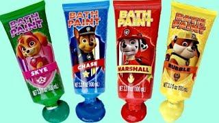 PAW PATROL Bath Time Fingerpaint Activity with Bubbles, Paddlin' Pups & Toy Surprise