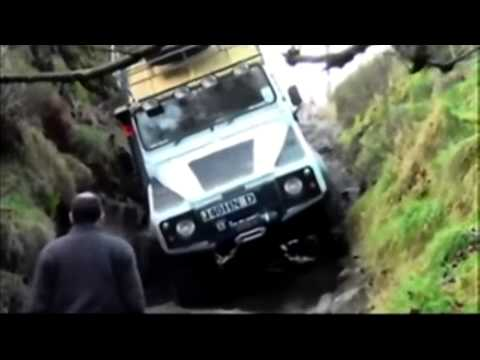 Green Laning with the Lowrangers 4x4 Extreme Rock Climb in Land Rovers at Hollinsclough
