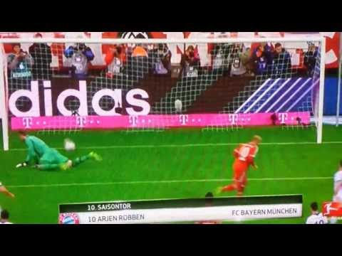 Arjen Robben Hattrick | Bayer Munich 5-1 Schalke 04 | Bundesliga 01/03/14