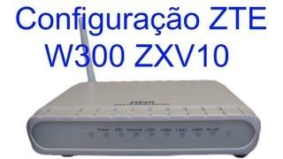 Como Configurar Modem Wireless ZTE ZXV10 W300 ADSL Passo A