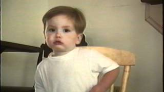 Pip - singing at 2 years old 1994.avi view on youtube.com tube online.