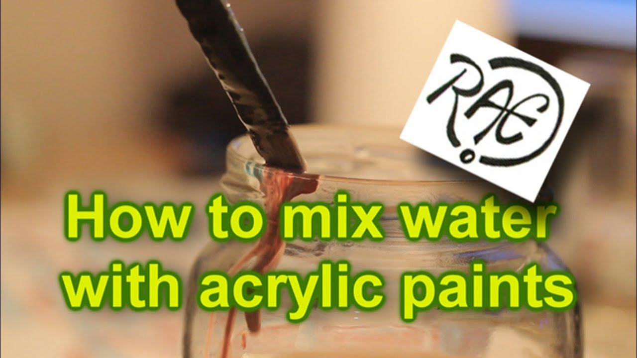 What Happens When You Mix Acrylic Paint With Water