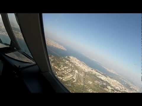 Falcon 900 Landing - Lisbon, Portugal (Go Pro HD 2)