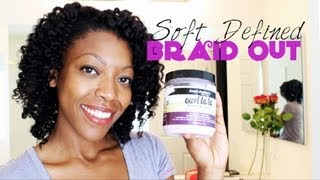 Soft, Defined, TOUCHABLE Braid Out Using Aunt Jackie's