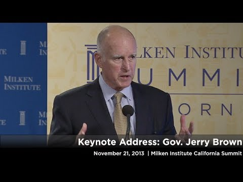 Keynote Address: Gov. Jerry Brown
