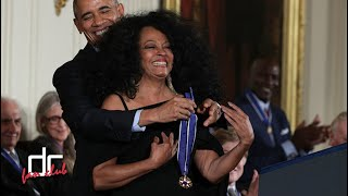 Diana Ross accepted the Presidential Medal of Freedom 2016