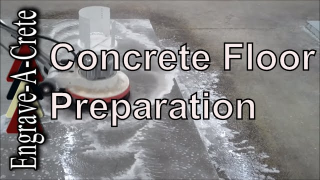 How to clean and prep a concrete floor youtube for How to get concrete clean
