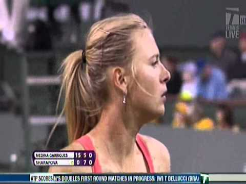 Maria Sharapova's Comical Serve at Indian Wells