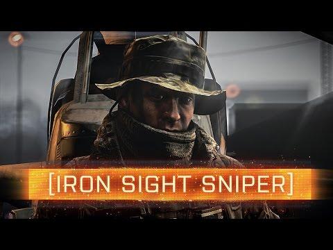 ► IRON SIGHT SNIPER! - Battlefield 4