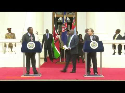 President Kenyatta Ban Ki Moon on Security