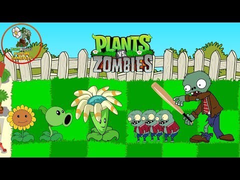 PLANTS VS ZOMBIES HEROES - Plants level 1 vs Zombies Funny - Zombies Attack Animation