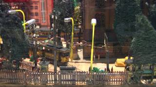 Miniatur Stadtmodell mit Straßenbahn von Dieter Jannasch im Verkehrsmuseum Dresden