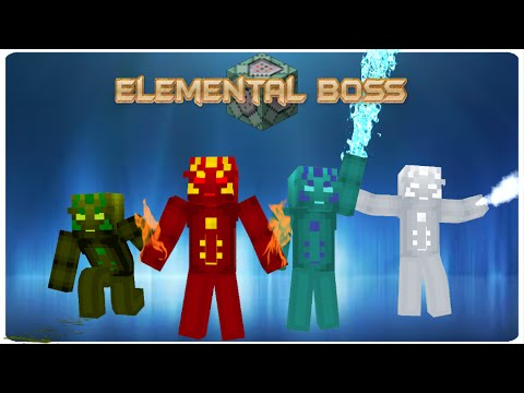 Elemental Boss in vanilla MC | ONLY ONE COMMAND BLOCK (1.9)