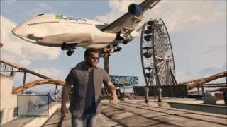 GTA 5 Landing a 747 JUMBO JET on Ferris Wheel And a Single POST!!