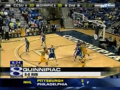 Quinnipiac Men's Basketball vs. CCSU TV Clips from WTNH and NBC30