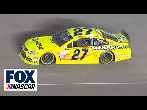 Paul Menard Tire Explodes @ 2013 Ford 400