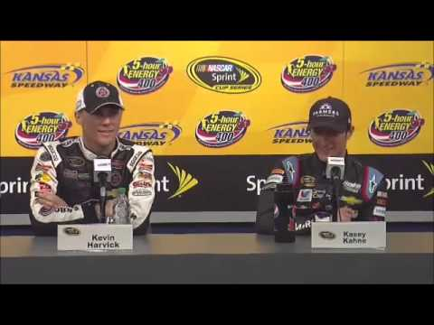 Kasey Kahne - Kevin Harvick Kansas Post-Race NASCAR Video News Conference