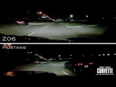 Z06 vs Grand Sport vs Mustang - Split View