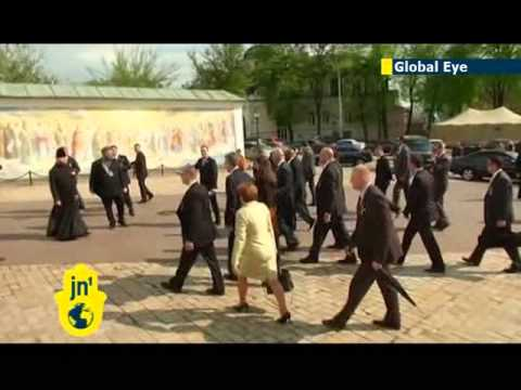 US vice president visits famous Kyiv monastery