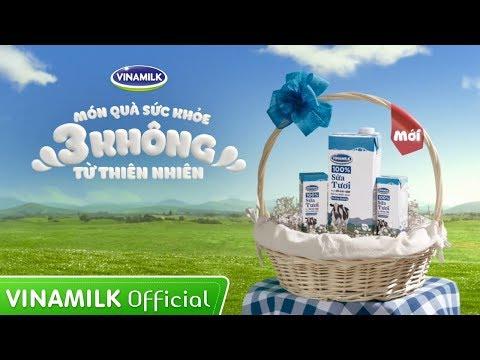Món quà sức khỏe 3 KHÔNG từ thiên nhiên - Sữa tươi Vinamilk 100%