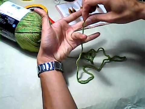 Móc Mũi Căn Bản - Cách chọn sợi và kim. Phương pháp cầm kim giữ sợi.