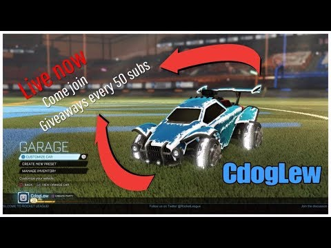 *LIVE ROCKET LEAGUE* | *GAMES, TRADING AND TIPS* | *BIOMASS OR LABYRINTH GIVEAWAY AT EVERY 50 SUBS*