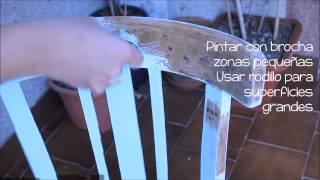 Pintar silla con aspecto blanco envejecido