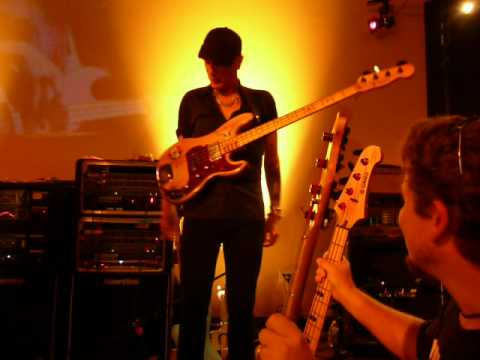 Yamaha Attitude Day Sept. 15th 2012, Billy Sheehan trying a Copy Bass of his famous &quot;Wife&quot; bass.