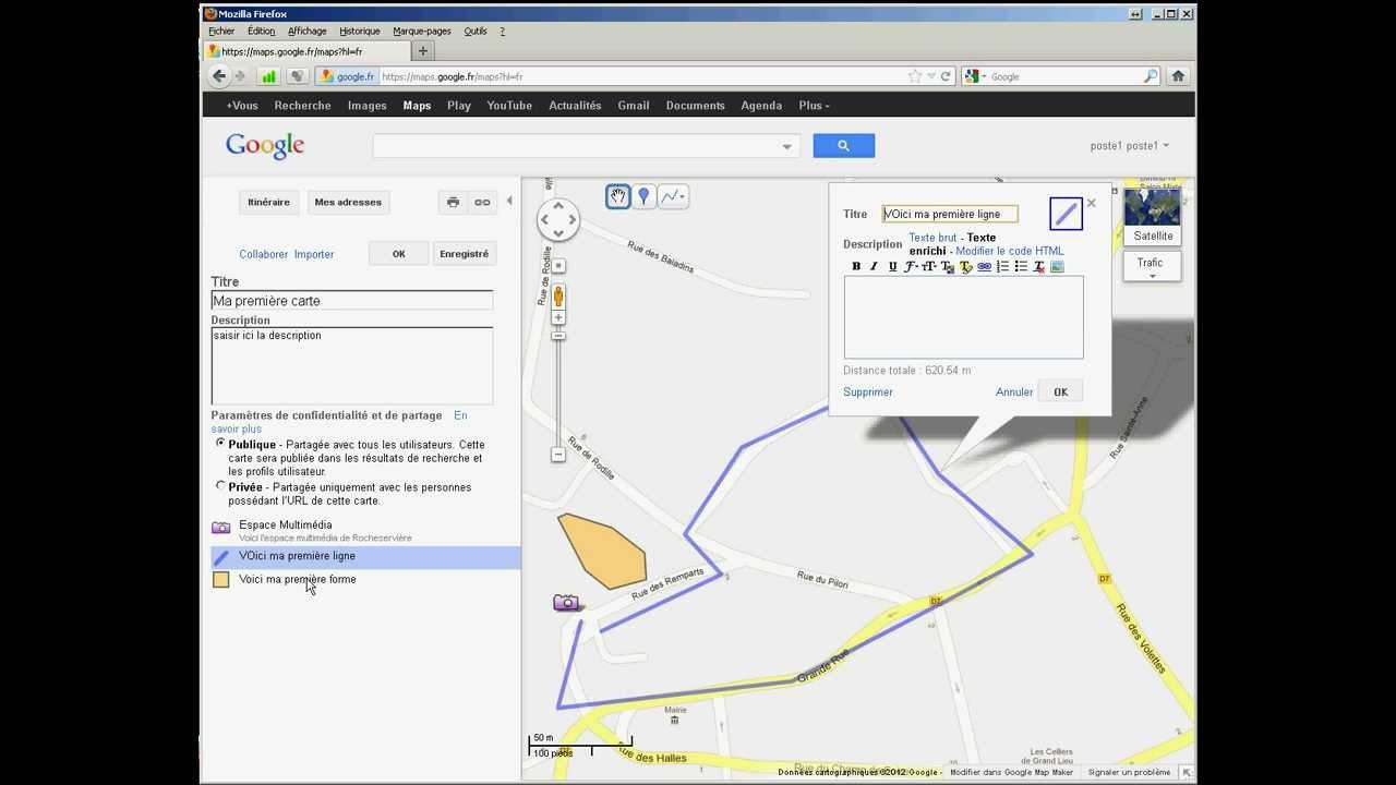 Cr er une carte personnalis e avec google map youtube - Creer une carte geographique personnalisee ...
