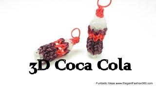 Rainbow Loom Coca Cola 3D Soda Drink Charms How To