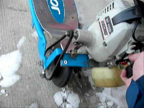 Echo Gas Powerd E100 Razor Scooter 21 3cc Completed Youtube
