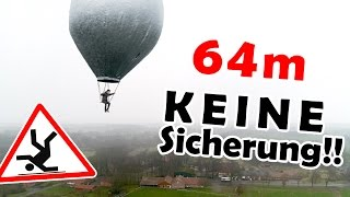 Unser FINALER FLUG!   kleinster bemannter Ballon über'm Kliemannsland!