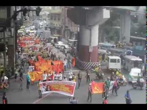 RCTU held a lightning rally in Mendiola to commemorate the NPA's 45th anniv