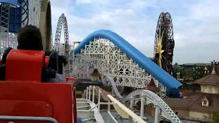 Disney Land California Screamin' Roller Coaster Ride!  HD