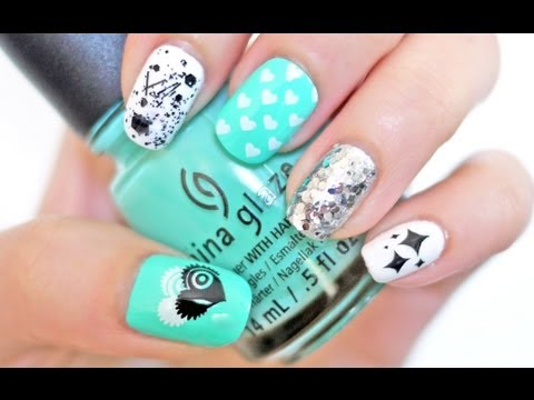Hearts, Stars & Splatters Nail Tutorial