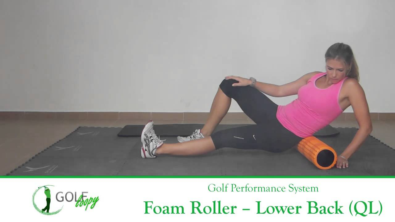 how to use a foam roller for back