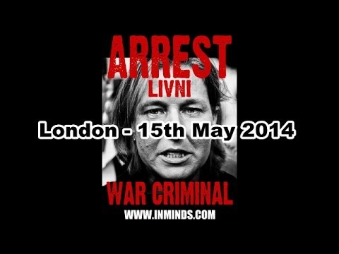 Protesting Livni Visit London 15th May 2014