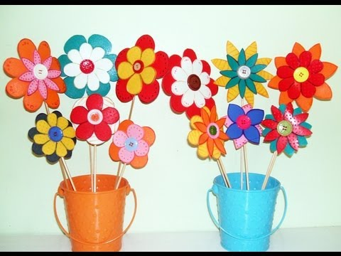 Flores en foami faciles - Imagui