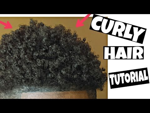 HOW TO Get Natural Curly Hair Black Men (TUTORIAL)