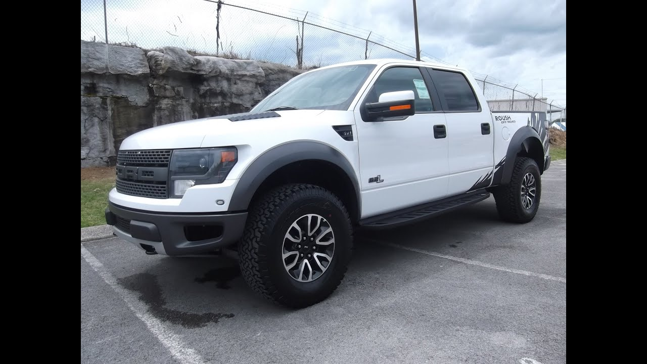 2013 ROUSH RAPTOR WHITE WITH GRAPHICS STILL AVAILABLE FOR SALE AT FORD