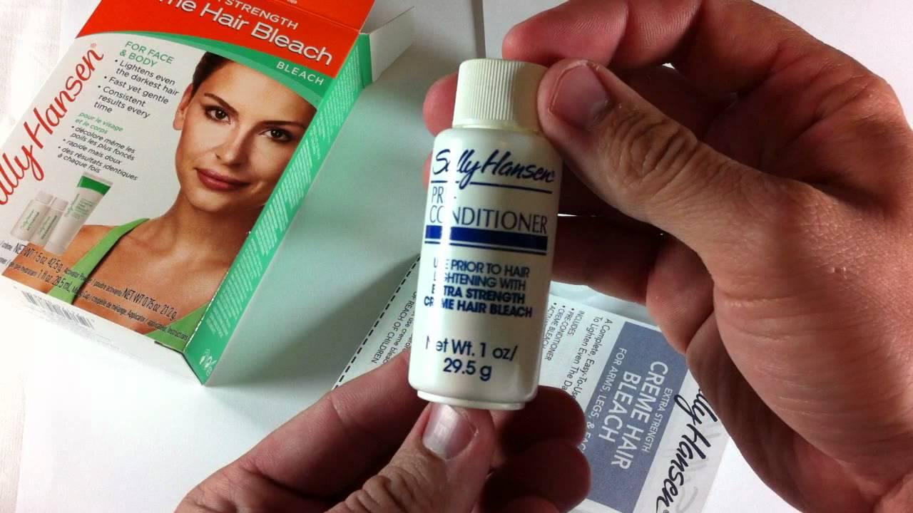 sally hansen bleach cream instructions