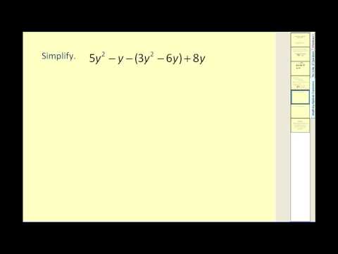 Simplifying Algebraic Equations