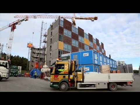 Stockholm Royal Seaport Building logistics centre (English version with German subtitles)