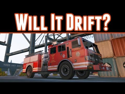 Grand Theft Auto 5 : Will It Drift? Firetruck,