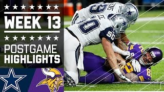 Cowboys vs. Vikings | NFL Week 13 Game Highlights