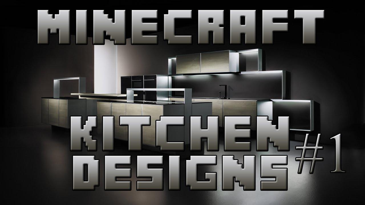minecraft interior designs episode 1 kitchen designs youtube