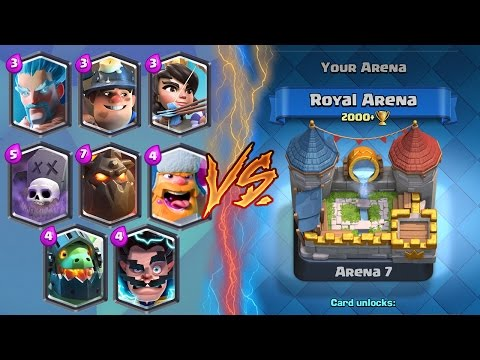 "trong video Clash Royale ""WIN EVERY TIME!"" BEST Arena 6 & Arena 7 Deck ..."