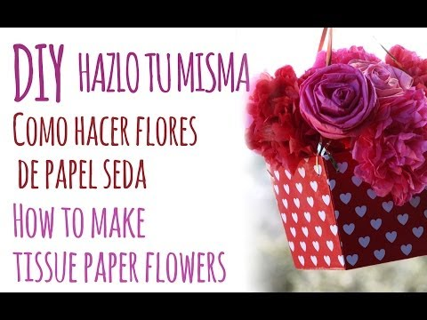 Como Hacer Flores de Papel Seda | How to Make Tissue Paper Flowers
