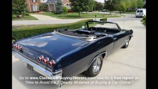 1965 Chevy Impala SS Convertible Classic Muscle Car For